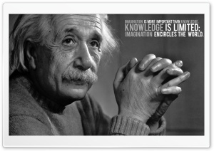 Albert Einstein Black And White HD Wide Wallpaper for Widescreen