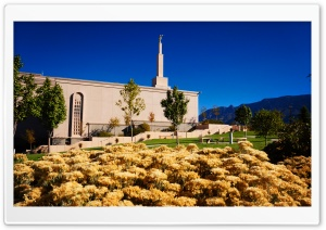 Albuquerque New Mexico Temple, October HD Wide Wallpaper for 4K UHD Widescreen desktop & smartphone