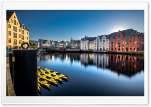 Alesund beautiful town, Norway HD Wide Wallpaper for 4K UHD Widescreen desktop & smartphone