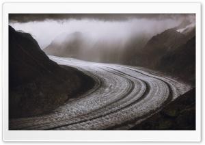 Aletsch Glacier, Alps Mountain Range, Switzerland HD Wide Wallpaper for 4K UHD Widescreen desktop & smartphone