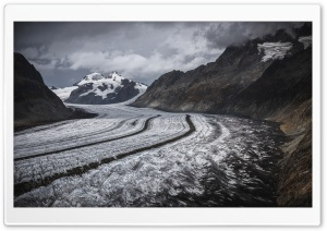Aletsch Glacier, Switzerland HD Wide Wallpaper for 4K UHD Widescreen desktop & smartphone