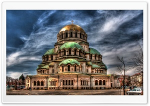 Alexander Nevsky Cathedral- Sofia, Bulgaria HD Wide Wallpaper for 4K UHD Widescreen desktop & smartphone