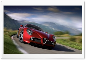 Alfa Romeo 8C Competizione HD Wide Wallpaper for 4K UHD Widescreen desktop & smartphone