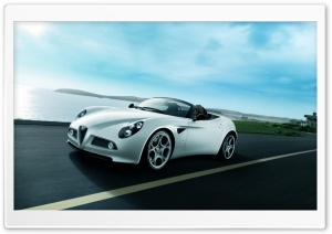 Alfa Romeo 8C Spider HD Wide Wallpaper for Widescreen