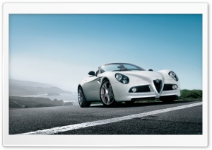 Alfa Romeo 8C Spider Car 2 HD Wide Wallpaper for 4K UHD Widescreen desktop & smartphone