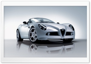 Alfa Romeo 8C Spider Car 3 HD Wide Wallpaper for 4K UHD Widescreen desktop & smartphone