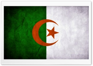 Algeria Flag HD Wide Wallpaper for Widescreen