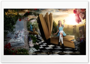 Alice in Wonderland 2016 HD Wide Wallpaper for Widescreen