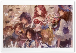 Alice In Wonderland Anime HD Wide Wallpaper for Widescreen