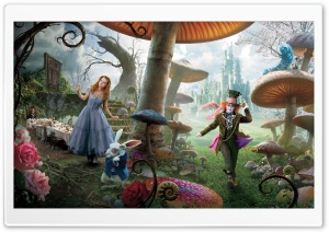 Alice In Wonderland Movie HD Wide Wallpaper for Widescreen
