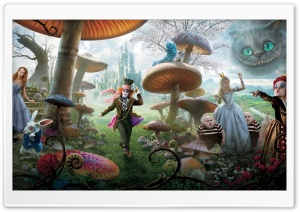 Alice In Wonderland Movie 2010 HD Wide Wallpaper for Widescreen