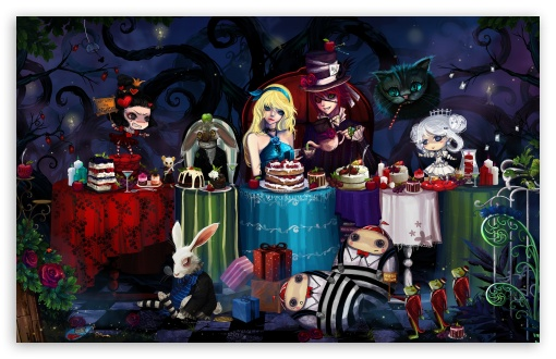 Alice In Wonderland Tea Party HD wallpaper for Wide 16:10 5:3 Widescreen WHXGA WQXGA WUXGA WXGA WGA ; HD 16:9 High Definition WQHD QWXGA 1080p 900p 720p QHD nHD ; Standard 3:2 Fullscreen DVGA HVGA HQVGA devices ( Apple PowerBook G4 iPhone 4 3G 3GS iPod Touch ) ; Mobile 5:3 3:2 16:9 - WGA DVGA HVGA HQVGA devices ( Apple PowerBook G4 iPhone 4 3G 3GS iPod Touch ) WQHD QWXGA 1080p 900p 720p QHD nHD ;