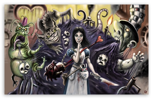 Alice Madness Returns Nightmare HD wallpaper for Wide 16:10 5:3 Widescreen WHXGA WQXGA WUXGA WXGA WGA ; HD 16:9 High Definition WQHD QWXGA 1080p 900p 720p QHD nHD ; Standard 3:2 Fullscreen DVGA HVGA HQVGA devices ( Apple PowerBook G4 iPhone 4 3G 3GS iPod Touch ) ; Mobile 5:3 3:2 16:9 - WGA DVGA HVGA HQVGA devices ( Apple PowerBook G4 iPhone 4 3G 3GS iPod Touch ) WQHD QWXGA 1080p 900p 720p QHD nHD ;