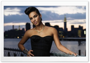 Alicia Keys HD Wide Wallpaper for Widescreen