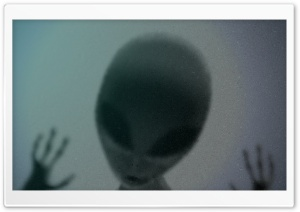 Alien Behind Glass HD Wide Wallpaper for Widescreen