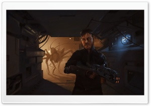 Alien Fight HD Wide Wallpaper for Widescreen
