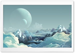 Alien Planet Landscape Illustration HD Wide Wallpaper for 4K UHD Widescreen desktop & smartphone