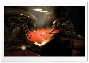 Alien Vs Predator, Pool HD Wide Wallpaper for Widescreen