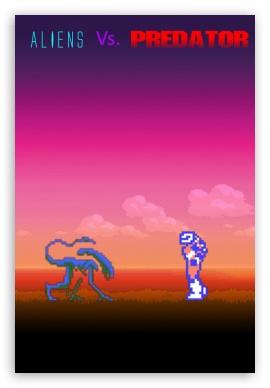 Aliens Vs. Predator 8 Bit Wallpaper For Iphone ❤ 4K UHD Wallpaper For Mobile