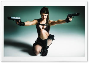 Alison Carroll as Lara Croft HD Wide Wallpaper for Widescreen