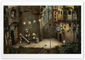 Alley, Machinarium Game HD Wide Wallpaper for Widescreen