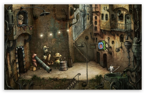 Download Alley, Machinarium Game UltraHD Wallpaper