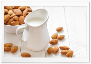 Almonds And Milk HD Wide Wallpaper for Widescreen