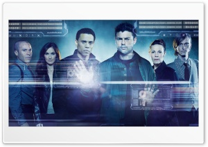 Almost Human TV series Cast HD Wide Wallpaper for Widescreen