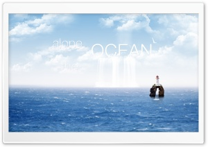 Alone on the Ocean HD Wide Wallpaper for Widescreen