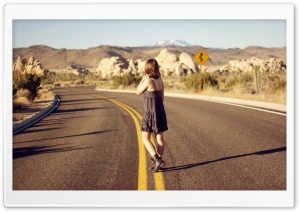 Alone On The Road HD Wide Wallpaper for 4K UHD Widescreen desktop & smartphone