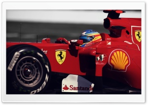 Alonso Fernando Ferrari HD Wide Wallpaper for Widescreen