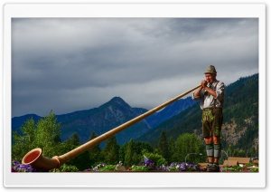 Alp Horn HD Wide Wallpaper for Widescreen