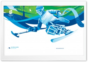 Alpine Skiing - Para-Alpine HD Wide Wallpaper for Widescreen