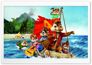 Alvin and the Chipmunks Chipwrecked (2011) HD Wide Wallpaper for Widescreen