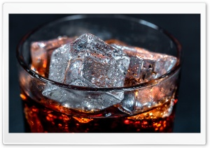 Always Cola Cola with ice cubes Ultra HD Wallpaper for 4K UHD Widescreen desktop, tablet & smartphone