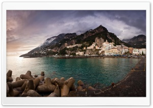 Amalfi Coast HD Wide Wallpaper for 4K UHD Widescreen desktop & smartphone