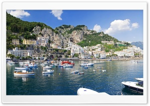 Amalfi, Monte Cerreto, Italy HD Wide Wallpaper for Widescreen