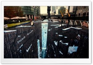 Amazing 3D Street Painting HD Wide Wallpaper for Widescreen