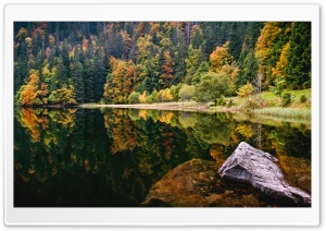 Amazing Autumn Lake View HD Wide Wallpaper for Widescreen