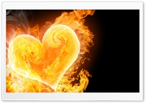 Amazing Flaming Heart HD Wide Wallpaper for Widescreen