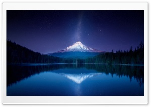 Amazing Mountain Milky Way by Yakub Nihat HD Wide Wallpaper for Widescreen