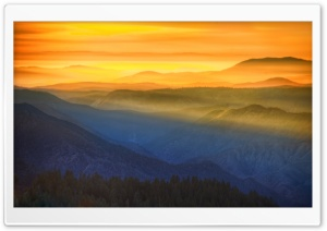 Amazing Sunset In Yosemite HD Wide Wallpaper for 4K UHD Widescreen desktop & smartphone