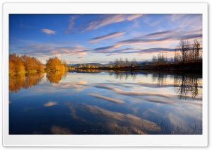 Amazing View Of Lake Autumn HD Wide Wallpaper for Widescreen