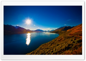 Amazing View of Lake Wakatipu, New Zealand HD Wide Wallpaper for 4K UHD Widescreen desktop & smartphone