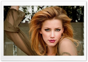Amber Heard Pretty Face HD Wide Wallpaper for Widescreen