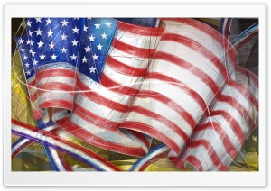 American Flag, Independence Day HD Wide Wallpaper for Widescreen