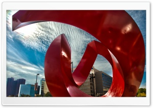 American Red Sculpture Ultra HD Wallpaper for 4K UHD Widescreen desktop, tablet & smartphone