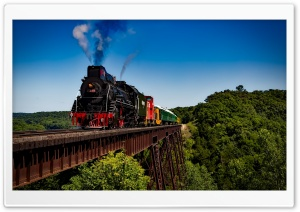 American Steam Locomotive HD Wide Wallpaper for Widescreen