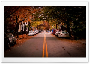 American Town, Autumn HD Wide Wallpaper for Widescreen