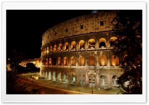 Amphitheatre in Rome, Italy HD Wide Wallpaper for Widescreen